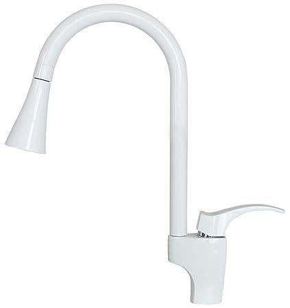 Sanlingo Este - Miscelatore lavello cucina, bianco: Amazon.it: Fai da te