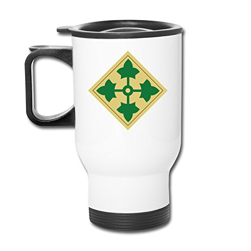 4th Infantry Division Ivy Fashion Portable Outdoor Sports Travel Mug