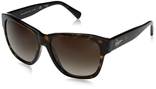Ralph by Ralph Lauren Women's Acetate Woman Sunglass Square, DARK TORTOISE, 56 mm