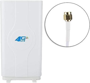 4G LTE 88DBi Antena de Placa de Alta Ganancia, SMA / CRC9 / TS-9 Antena de polarización Doble 800MHz a 2600MHz Antenas de Punto de Acceso móvil con 2 ...