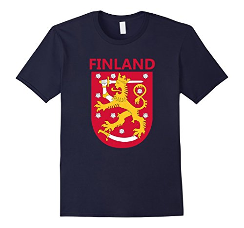 Mens Finland Coat of Arms T-Shirt Finnish Emblem Shirt XL...