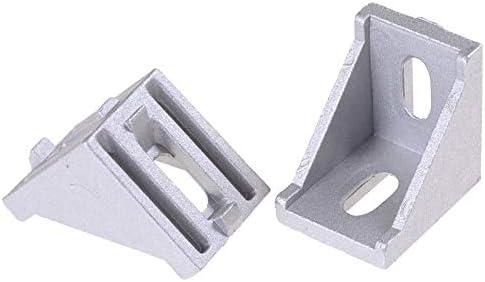 SNOWINSPRING 20 Pcs//Lote Esquina 3030 Soportes De Fijaci/óN Conector L Para Aluminio 3030 /áNgulo De Los Accesorios De Esquina Del Perfil Accesorios Decorativos