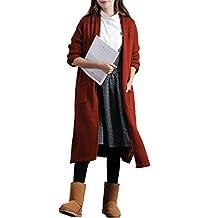 Femirah Women's Open Front Cotton Long Maxi Cardigan Sweater Coat