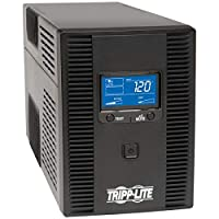 Tripp Lite UPS Smart LCD Battery Back Up Tower AVR 120V USB Coax RJ45 from TRJP9