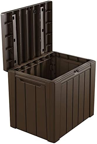 SC Classic Wood-Look Design Urban 30-Gallon Outdoor Deck Box Storage Table