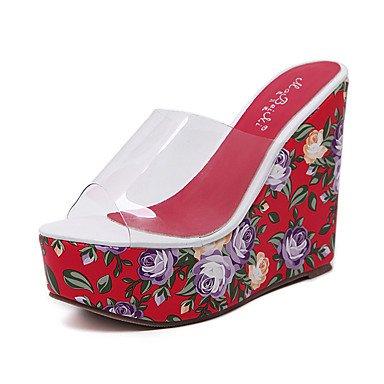 LvYuan Mujer-Tacón Cuña-Innovador Gladiador Zapatos del club Confort-Sandalias-Boda Exterior Oficina y Trabajo Vestido Informal Deporte Fiesta y Red