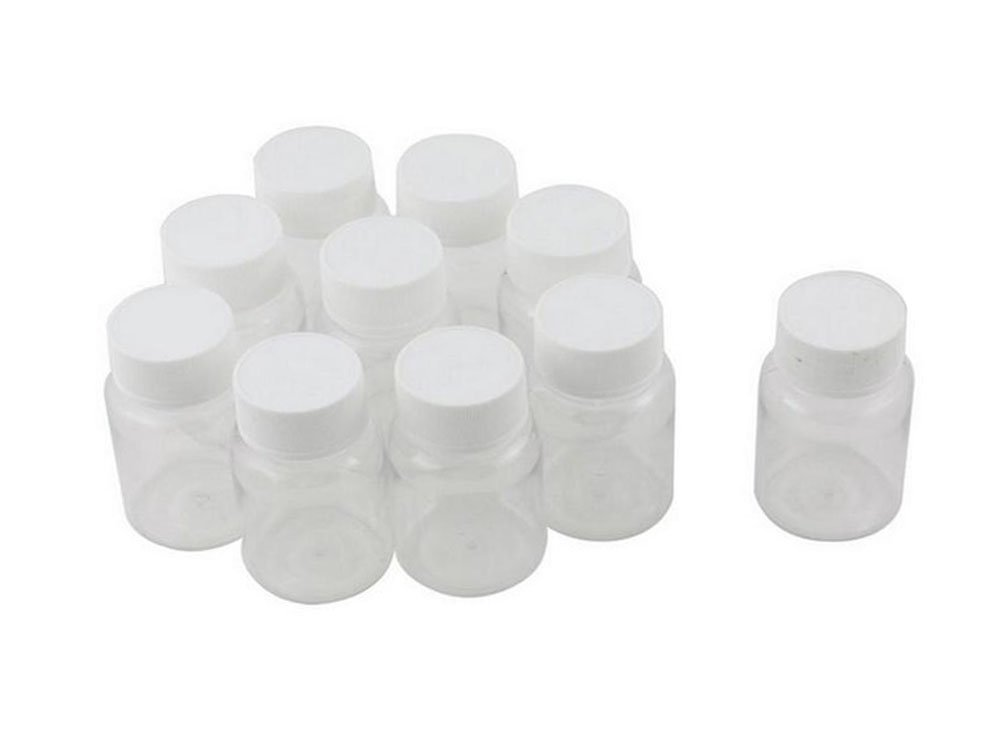 12PCS 80ml 2.7oz Empty Portable Plastic Solid Powder Medicine Chemical Bottles Pill Tablet Holder Storage Container Case Box