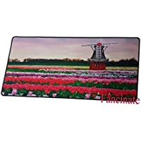 Large Mouse Mat 23.62x11.81x0.07 inches - Flowers Rubber Oblong MousePad Computer Desk Stationery Accessories Mouse Pads