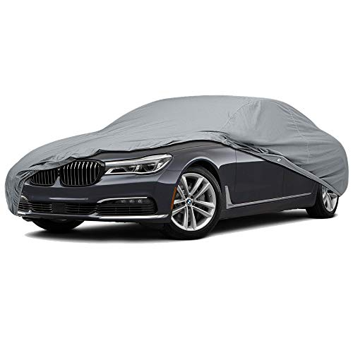 - 5 Layer Full Coverage Semi Custom Fit Car Cover for Lincoln Continental 1998-2001 Sedan 4-Door