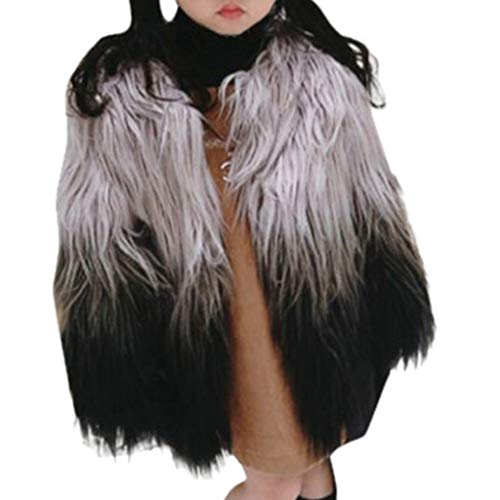Sameno Junior Kids 1-7T Toddler Baby Girl Clothes Luxury Faux Fur Winter Coat Warm Snow Jacket Cute Outfits 2019 New Black