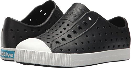 Native Kids Jefferson Junior Water Proof Shoes, Jiffy Black/Shell White, 2 Medium US Little Kid