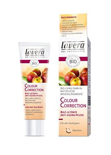lavera CC Cream 8 in 1 Colour Correction Cream ∙ Getönte Feuchtigkeitspflege ∙ Ein Hauch Make Up ∙ Tagespflege LSF 6 ∙ vegan ✔ Bio Pflanzenwirkstoffe ✔ Naturkosmetik ✔ Natural & innovative ✔ Gesichtspflege 1er Pack (1 x 30 ml)