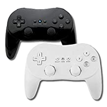 Wii Controller Classic Black and White Bundle Gamepad for Nintendo Wii Joypad for Nintendo Wii