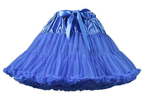 Facent Femme Tutu Cosplay jupe Jupon en tulle soires dguises carnaval Bleu Saphir