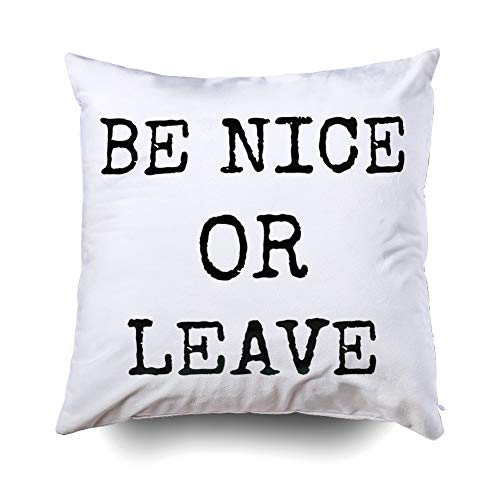 Musesh Christams Nice Leave Cushions Case Throw Pillow Cover for Sofa Home Decorative Pillowslip Gift Ideas Household Pillowcase Zippered Pillow Covers 20X20Inch