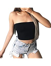 Summer Sexy Solid Crop Tube Tops for Women Ladies by Keepfit
