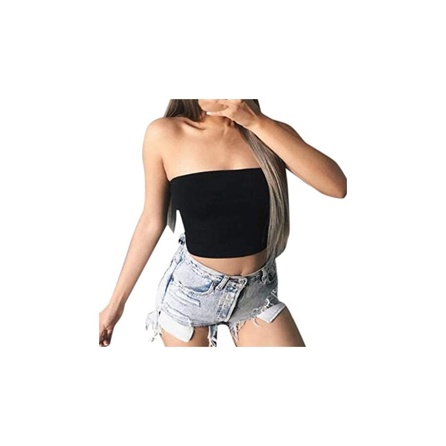 AOJIAN T Shirt Women Sleeveless Shirts Solid Slim Sexy Crop Tunic Blouse Tanks Vest Tops