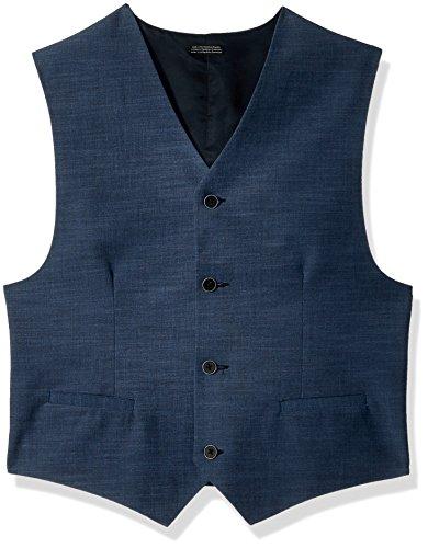(Calvin Klein Big Boys' Suit Vest, Blue Weave, Large (14/16))