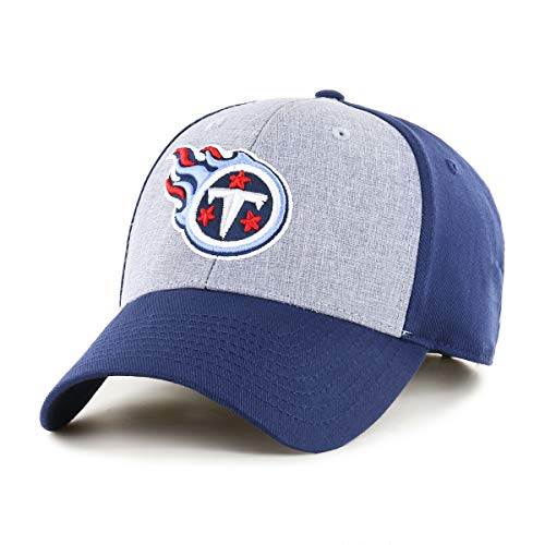 OTS NFL Tennessee Titans Male Essential All-Star Adjustable Hat, Light Navy, One -