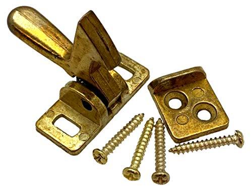 Don-Jo 1590 Cast Brass Elbow Catch, Polished Brass Finish (Pack of 10)
