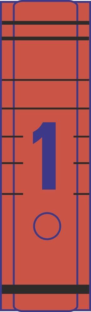 rot Avery Zweckform L4806-5 Einzel-Ordner-Etiketten 5 Blatt//10 Etiketten 192 x 38 mm