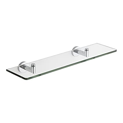 Superb Milano Mirage Modern Wall Mounted Bathroom Glass Shelf With Chrome Brackets 500Mm Length Download Free Architecture Designs Scobabritishbridgeorg