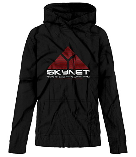 Price comparison product image BSW Youth Girls SkyNet Cyberdyne Systems Neural Net Based AI Hoodie Med Black
