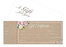 Image of the product Blank Gift Certificates that is listed on the catalogue brand of IMPACTONLINEPRINTING.