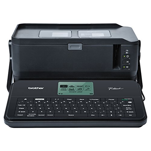 Brother P-touch Label Maker, Commercial/Lite Industrial Portable Labeler, PTD800W, Wi-Fi-Mobile-PC Connectivity, Extra-Wide Multi-Line Labeling, Links to Excel, Black ()
