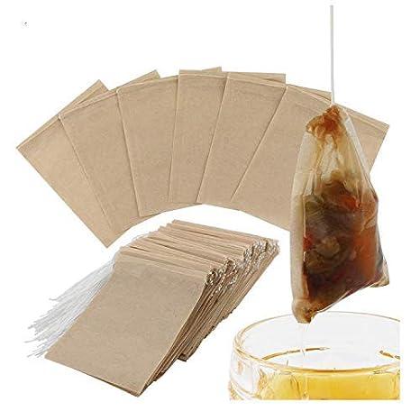 Bolsas de papel desechables para filtro de té con cordón de ...