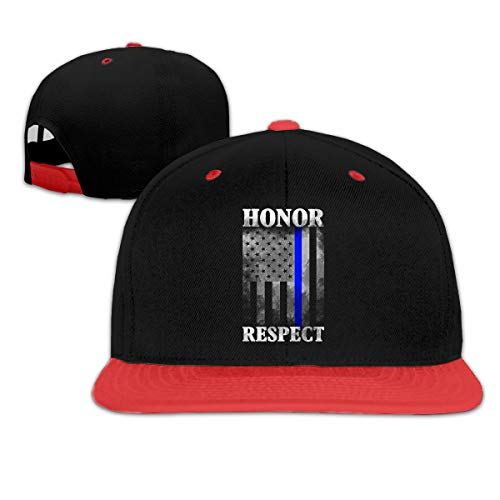Newcowby Men Honor Respect Thin Blue Line Flag Boys Girls Funny Hat Hip Hop Cap 6-12T