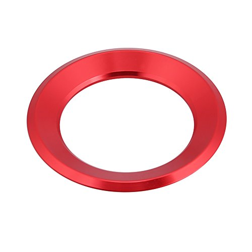 Cuque Car Steering Wheel Centre Ring Steering Wheel Cover Trim Interior Decoration Trim for Auto 6 7 Tiguan Passat B7 Octavia(red)