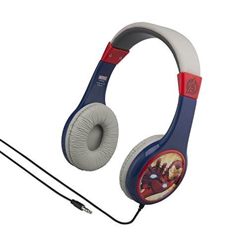 Avengers Kid Friendly Wired Headphones Volume Limited for Safe Listening for Kids