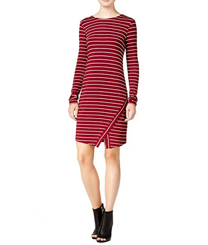 kensie Womens Striped Envelope-Hem Sheath Dress wim (Envelope Hem Dress)