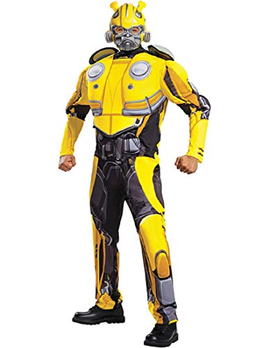 Disguise Men's Bumblebee Movie Classic Muscle Adult Costume, Yellow L/XL (42-46) ()