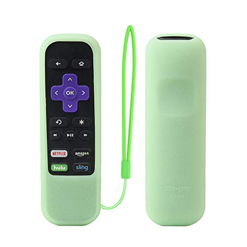 Roku Express Remote Case SIKAI Shockproof Protective Cover for Roku Express/Roku Premiere RC68/RC69/RC108/RC112 Standard IR Remote Skin-Friendly Anti-Lost with Loop (Glow in Dark Green)