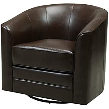 Amazon Com Emerald Home Milo Brown Accent Chair With Faux