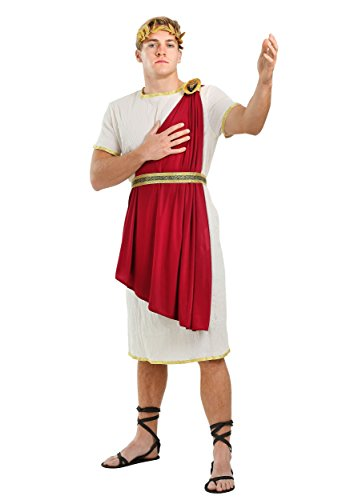 Roman Senator Mens Costume Medium White ()