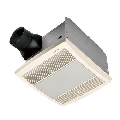 Broan QTRE080FLFT 80 CFM 42 Watt Fluorescent Light Ultra Silent Bathroom Fan/Light, White Grille (Finish Pack), requires separate purchase of QTXR000HL housing