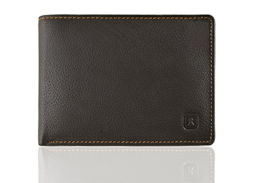 OPTEXX RFID Wallet Tom Mocca Cow Leather with OPTEXX; Made in Germany