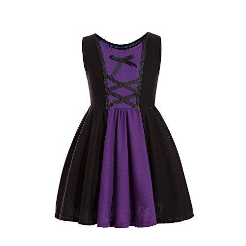 Ruikajia Evil Queen Costume Evil Queen Costume for Kids Toddler Girls Dresses Maleficent (Purple, 3T)