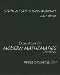 Excursions in modern mathematics 9th edition textbook solutions.