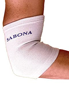 Sabona Of London Elbow Support White Size Large To Xl