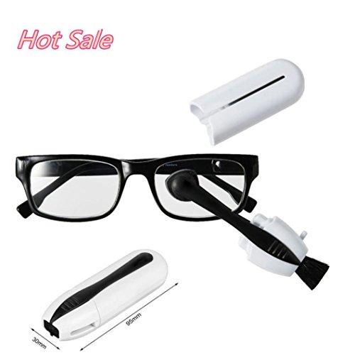 GreatFun Eyeglass Sunglass Glasses Cleaner Brush Glasses Tool Wiper Wipe (14k Sun Hoop)