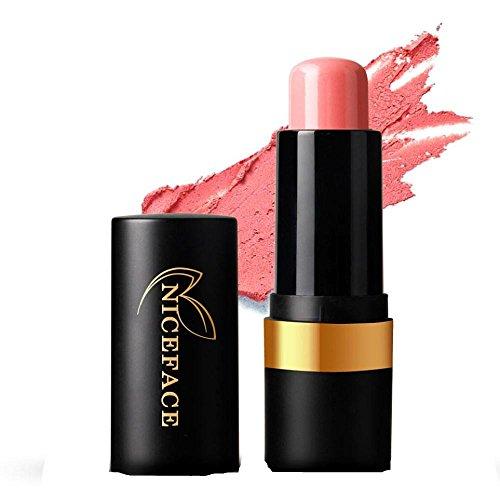 FTXJ Cosmetic Blusher Makeup Smooth Blush Stick Cheek Lip Glaze (Pink) by FTXJ