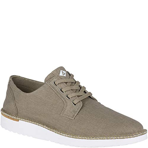 (SPERRY Men's Camden Oxford Canvas, Taupe, 12)