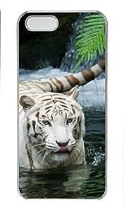 KOKOJIA Case for Samsung galaxy S6 PC, White Tiger Plastic Ultra Flexible Hard Protective Skin New Premium Fancy Fashion Slim Case for iPhone 5S PC white