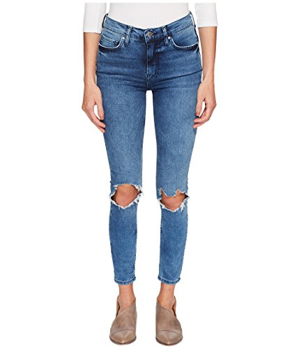 - Free People Women's High-Rise Busted Skinny in Turquoise Turquoise 24 26