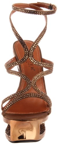 amp; Day Sandalias Pleaser mujer marrón Bronze Night wBn77Aqx