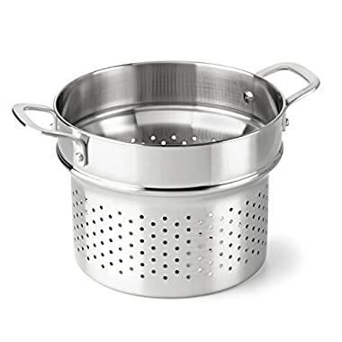 Calphalon Classic Stainless Steel Cookware, Steamer Insert, 6-quart to 8-quart